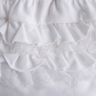 Mayoral White Baby Girl Knickers with Frills