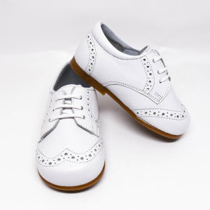 Geppetto's Baby Boy White Leather Oxford