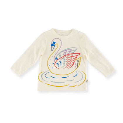 Stella McCartney Georgie Girl Long Sleeve Tee with Swan