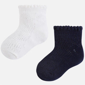 Mayoral Set of 2 Pairs of Socks for Girl Navy Blue