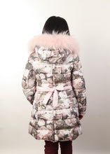 Canzitex  Girl Rose Coat with Fur