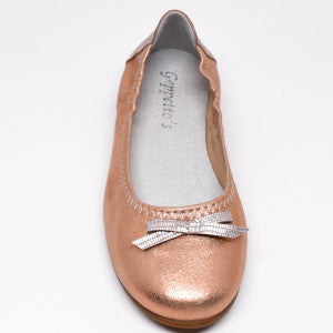Девушки Geppetto's Rose Rose & Silver Ballerina Shoes