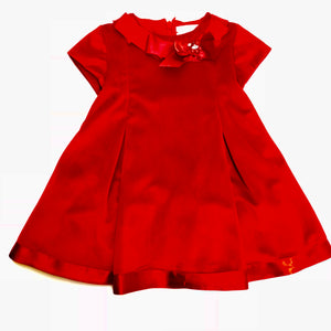 Bimbalo Baby Girls Little Red Velvet Dress