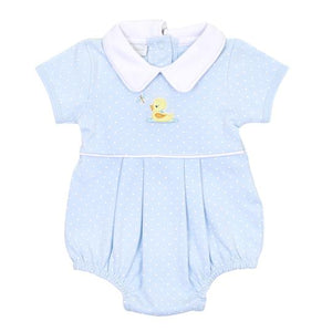 Magnolia Baby Vintage Ducky Collared Bubble Blue