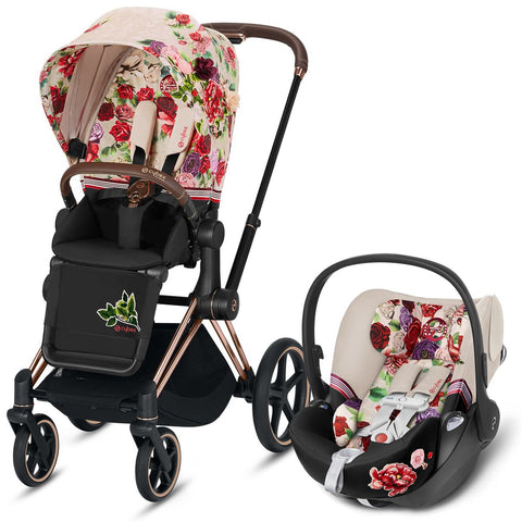 Cybex Priam & Cloud Q Travel System - Spring Blossom Light