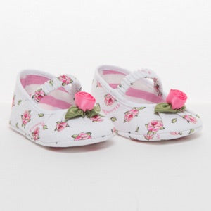 Monnalisa Bebé Baby Girls Floral Pre-Walker Shoes