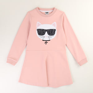 Karl Lagerfeld Pink Cotton Dress