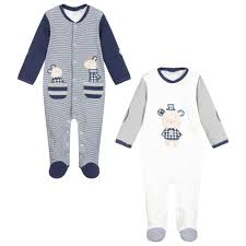Mayoral Blue Stripe Babygrows