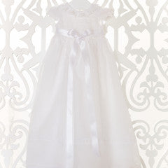 Dr. Kid White Christening Gown with Bonnet