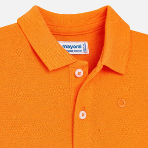 Mayoral Tigre Orange Short Sleeve Polo Shirt