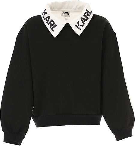 Karl Lagerfeld Girl Black & White Top