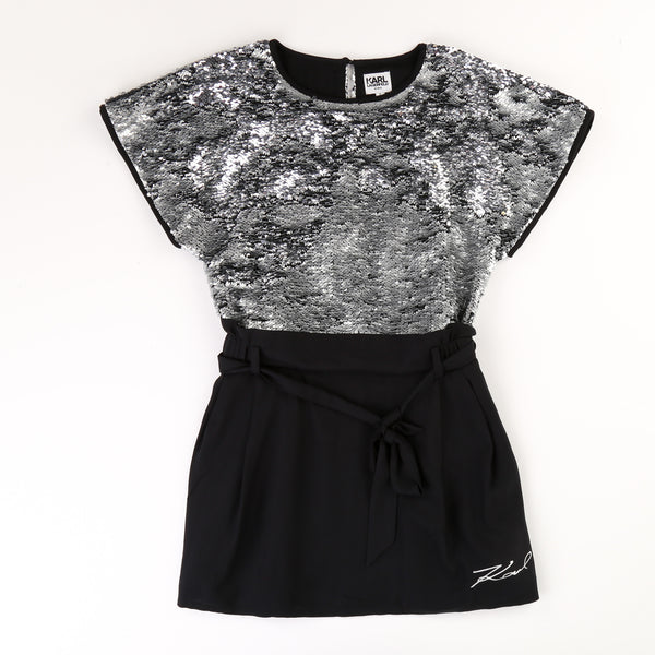 Karl Lagerfeld Girl Sequin Dress