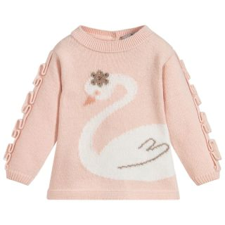 Dr. Kid Lovely Swan Knit Sweater