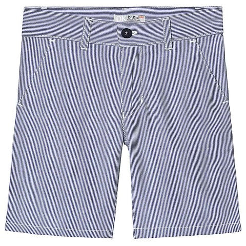 Dr. Kid Baby Boy Blue Striped Cotton Shorts