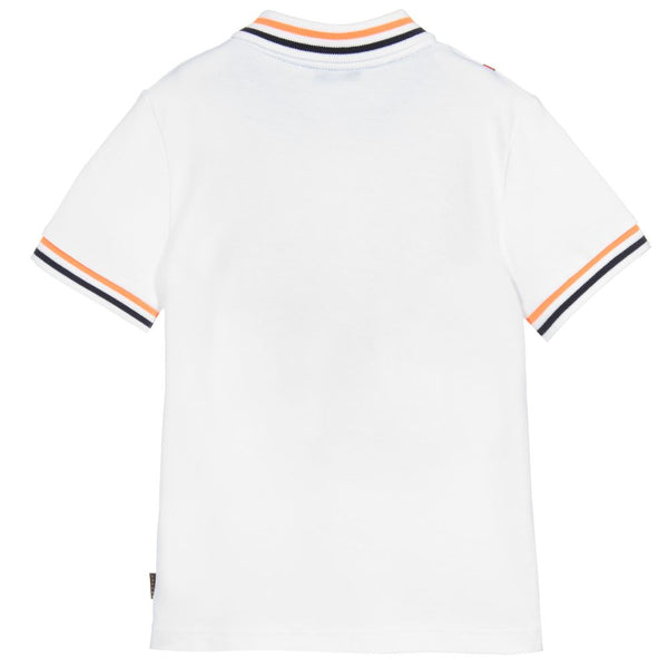 Little Marc Jacobs White Cotton Piqué Polo Top