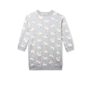Stella McCartney Leona Girls en todo Swan Fleece Vestido