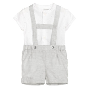 Mayoral Baby Boys Grey Cotton Shorts Set