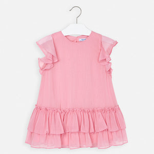 Mayoral Pink Ruffled Dress
