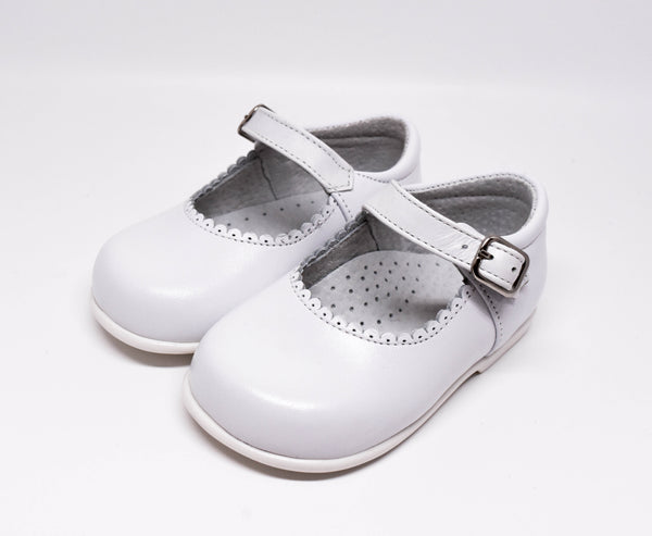Geppetto's Toddler White Leather Shoes
