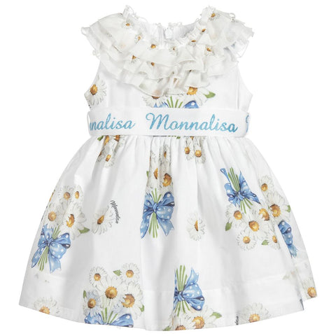 Monnalisa Bebé Baby Girls Cotton Daisy Dress