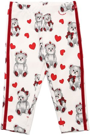 Monnalisa Teddy Bear Print Leggings