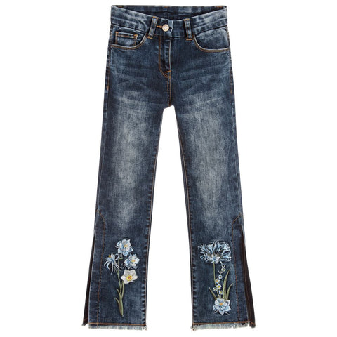 Monnalisa Girls Daisy Denim Jeans