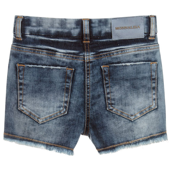 Monnalisa Girls Blue Denim Shorts