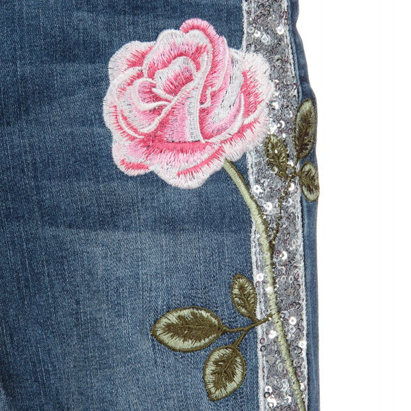 Monnalisa Chic Girls Denim Embroidered Jeans
