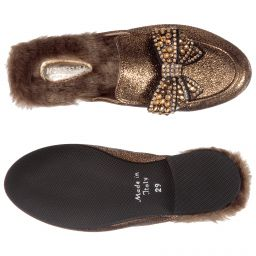 Monnalisa Girls Modern Slip-On Loafer