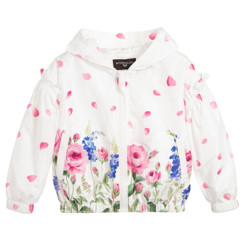 Monnalisa Girls Floral Windbreaker