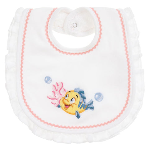 Monnalisa Bebé White Cotton Disney Bib