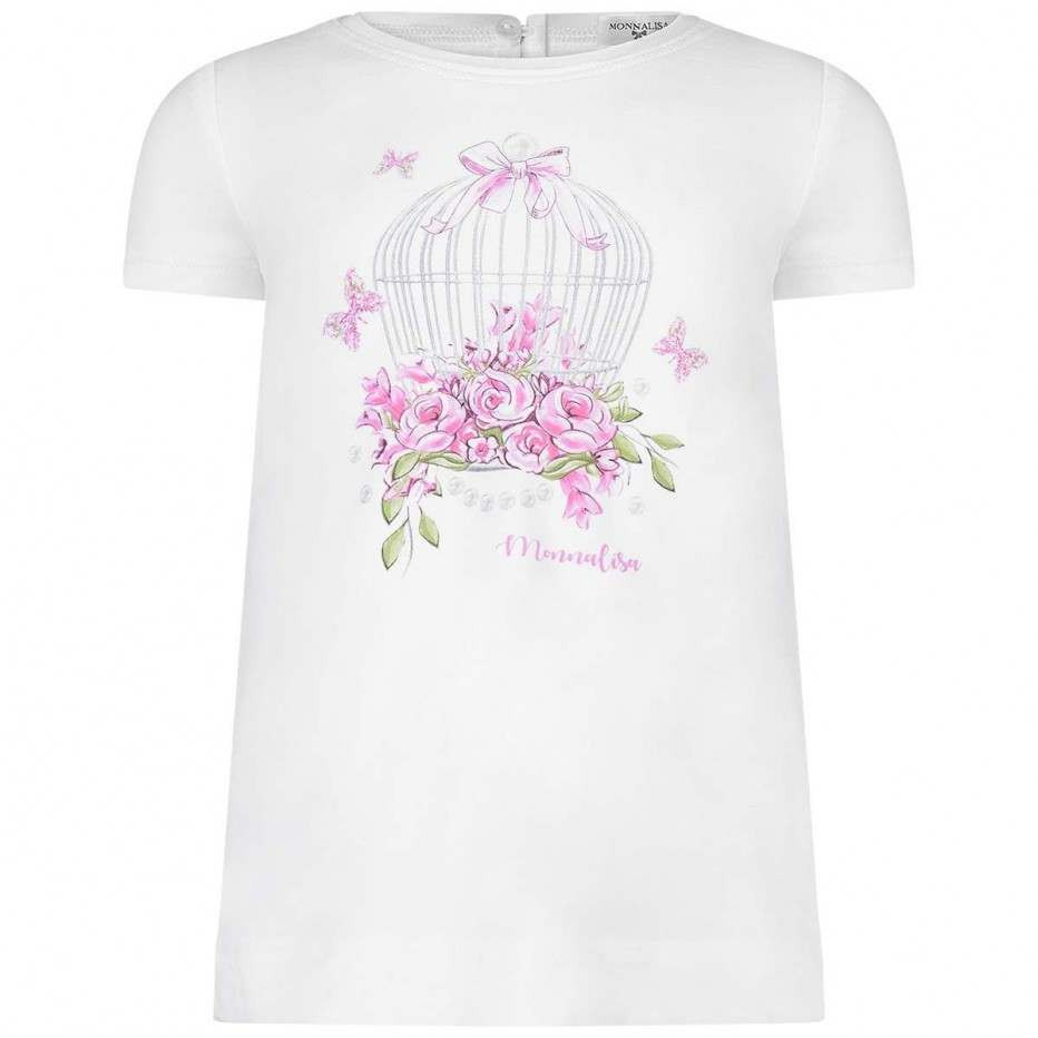 Monnalisa Bebe' Girls Butterfly Cage Top
