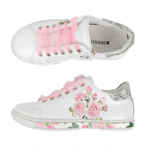 Monnalisa Girls Rose Sneakers