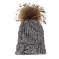 Pangasa Winter Hat with Fur Gray