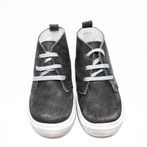 Geppetto's Lace Up Ankle Dark Grey Shoes