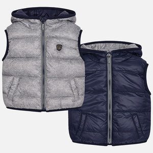 Mayoral Baby Boys Grey Reversible Vest