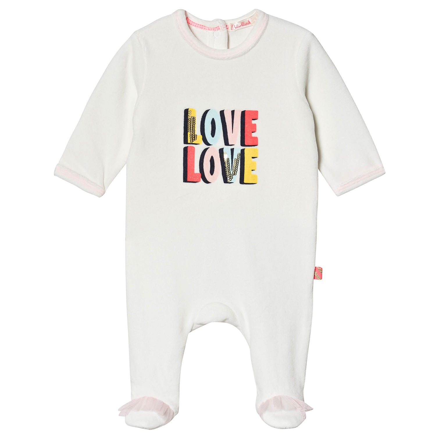 Billieblush White Sequin Love Babygrow