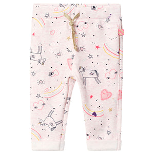 Billieblush Pink Unicorn Jersey Trousers