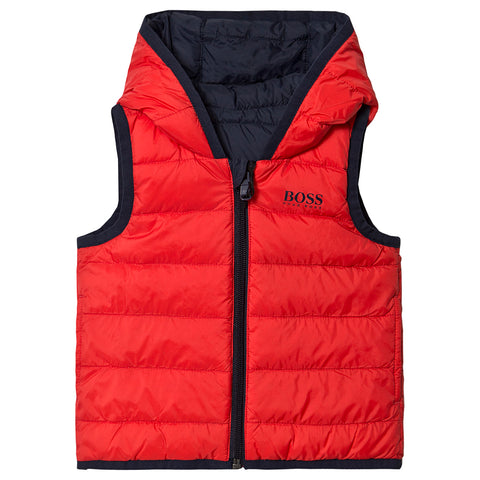BOSS Boys Reversible Water Repellent Vest