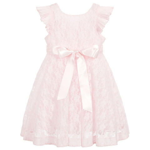 Piccola Speranza Girls Pink Lace Dress