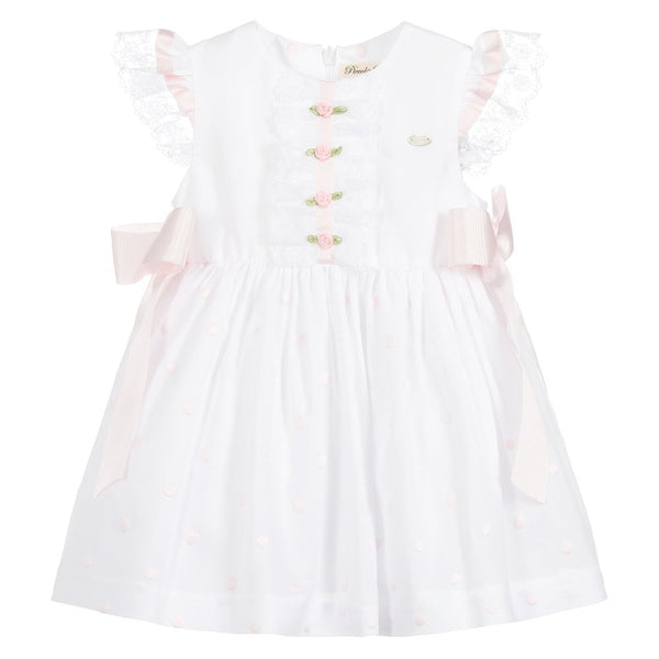 Piccola Speranza White Cotton Dress Set