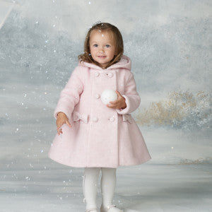Bimbalo Lana Wool Pink Hooded Coat