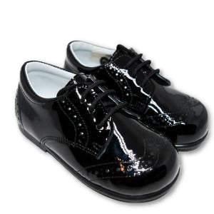 Geppetto's Baby Boy Black Patent Leather Oxford