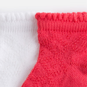Mayoral Set of 2 Pairs of Socks for Girl Coral