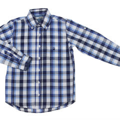 Dr. Kid Nautical Blue Checkered Shirt
