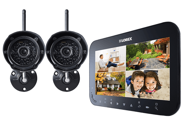 "Lorex Rechargeable 7"" LCD Integrated SD DVR - 2 Cameras"