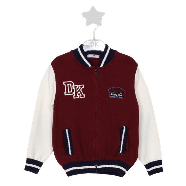 Dr. Kid Boy Knit Rugby Club Zip Up Cardigan