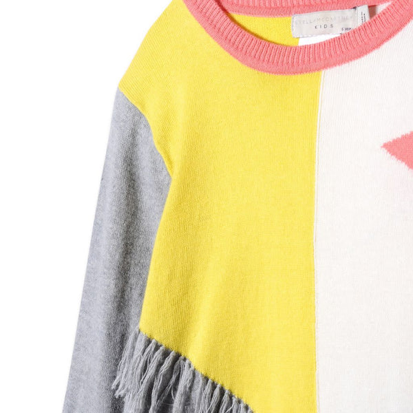 Stella McCartney Mollie Star Colorblock Knit Dress