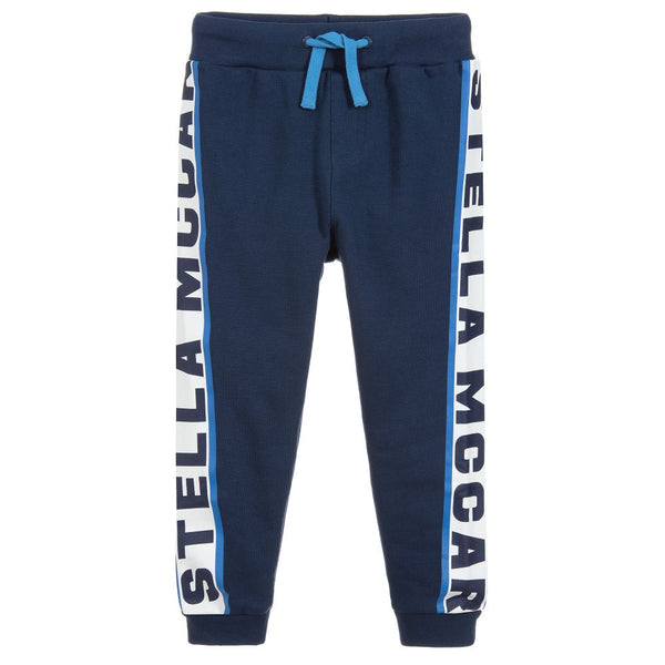 Stella McCartney Kids Boys Grey & Blue Logo Tracksuit