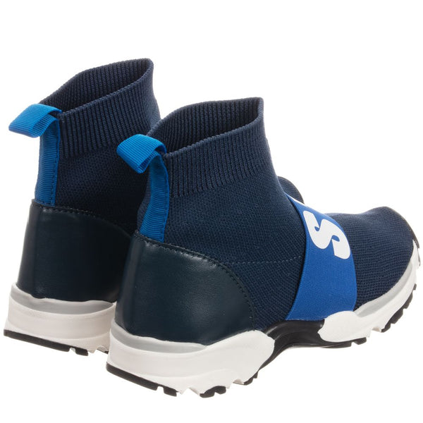 Stella McCartney Kids Boys Blue Sock Trainers